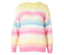 Pullover blau / weiß / pink / gelb