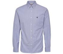 Oxford-Langarmhemd blau
