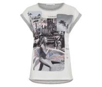 Print-Shirt grau / weiß