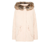 Winterparka 'cotton parka with fur collar' puder