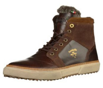 Sneaker creme / dunkelbraun / gold