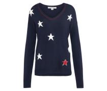Pullover mit Sternen-Musterung blau / rot / weiß