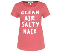 T-Shirt mit Schriftzug rosé
