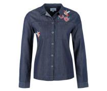 Leichte Jeansbluse mit Artwork blue denim / dunkelblau / blaumeliert