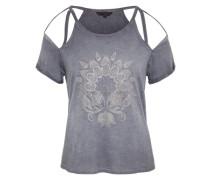 Cut-Out Shirt 'moon' weiß