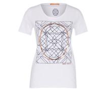 Shirt mit Print bronze / weiß
