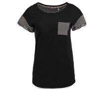 T-Shirt 'jacks Pocket' schwarz