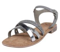 Sandale 'Carla' grau / silber