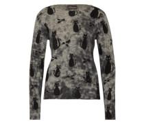 Pullover 'Cats & Mice' grau / mischfarben