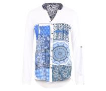 Bluse 'Gemma' blau / weiß