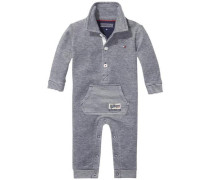 Body 'pique 2 Face Baby Coverall L/s' blaumeliert