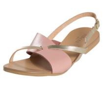 Leder-Sandalen rosa / silber