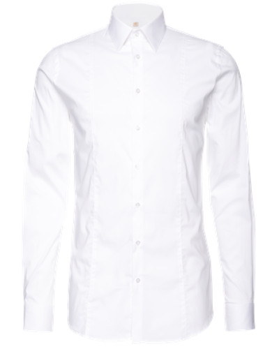 Unifarbenes Hemd 'Stephan' weiß