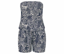 Bandeau-Overall navy / weiß