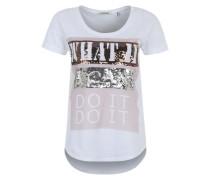 T-Shirt 'Sparkle' weiß