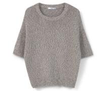 Kurzärmeliger Pullover braun