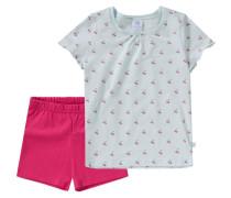 Schlafanzug für Mädchen blau / hellblau / dunkelpink