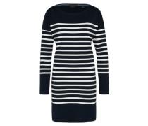 Kleid 'Breton' nachtblau / weiß