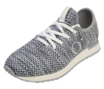 Sneaker mit Mesh-Einsätzen grau