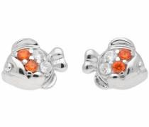 Paar Ohrstecker 'Fisch' orange / silber