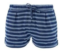 Jersey-Hotpants mit breiten Ringeln dunkelblau