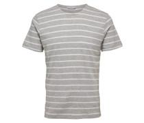 Rundhalsausschnitt T-Shirt grau