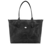 Essentials Donna Shopper Tasche Leder 40 cm schwarz
