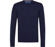Pullover »Plaited CTN Silk C-Nk CF« marine