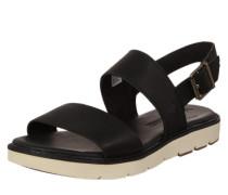 Sandale mit dicker Sohle schwarz / weiß
