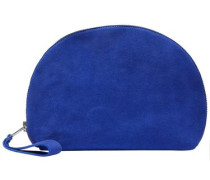 Wildleder-Clutch royalblau