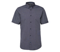Hemd 'Ray summer stripe shirt' dunkelgrau / schwarz