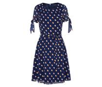 Kleid mit gepunkteter Musterung navy / mischfarben