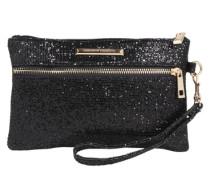 Glänzende Abendtasche schwarz