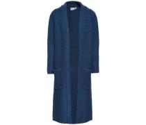 nitkastanje langer Strick-Cardigan blau