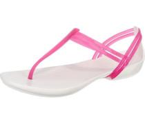 Sandaletten 'Isabella' pink / weiß