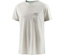 T-Shirt Herren beigemeliert / mint