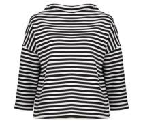 Sweatshirt 'Gesini stripe' schwarz / weiß