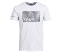 Bedrucktes Slim-Fit T-Shirt weiß