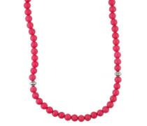 Halskette 'Hot' pink / silber