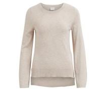 Gestrickter Woll Pullover beige