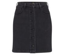 Jeansrock mit Knopfleiste schwarz