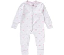Baby Schlafanzug für Mädchen rosa / weiß