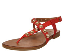 Sandale mit Steinchenbesatz gold / rot