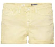 Jeansshorts hellgelb