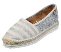 Espandrilles im Metallic-Look beige / silber