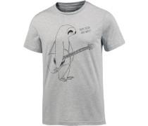 T-Shirt 'James' grau / schwarz