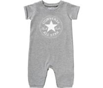 Baby 'Kurzarmoverall' für Jungen grau / graumeliert