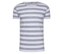 T-Shirt 'zemero T/s' indigo / weiß
