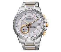 "Armbanduhr mit GPS ""cc3004-53A"" gold / silber"
