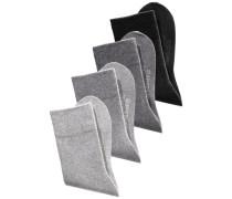 Komfortsocken (4 Paar) grau / anthrazit / hellgrau / schwarz
